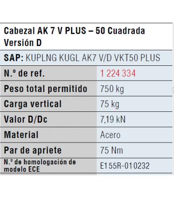 CABEÇOTE AK7 QUAD.50MM